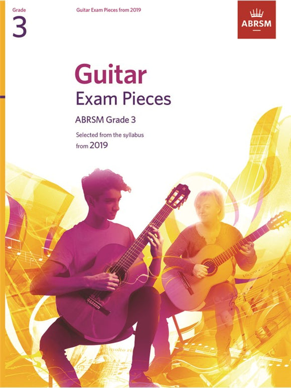 ABRSM: Guitar Exam Pieces From 2019 Grade 3 (Book Only)