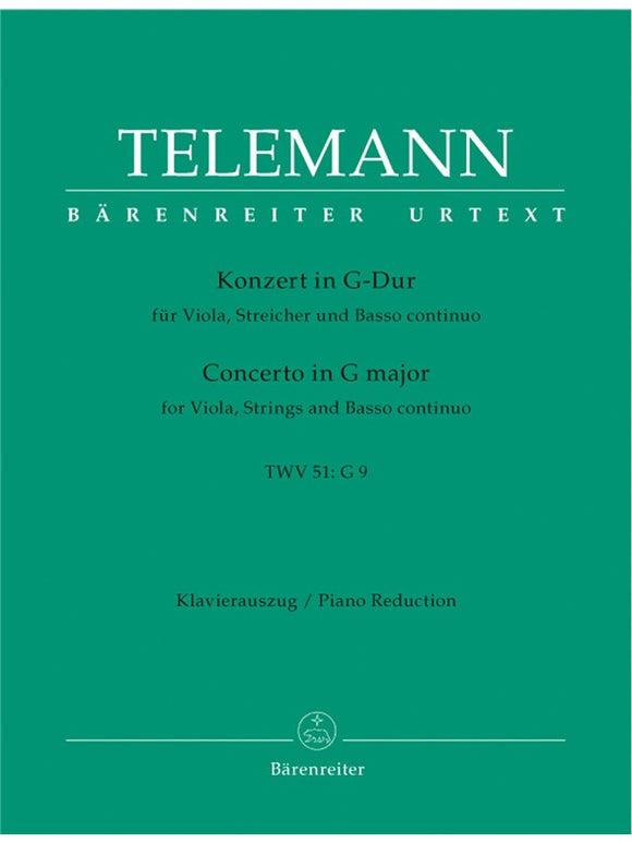 G.P. Telemann: Concerto For Viola And Orchestra In G TWV 51:G9 - Piano Accompaniment