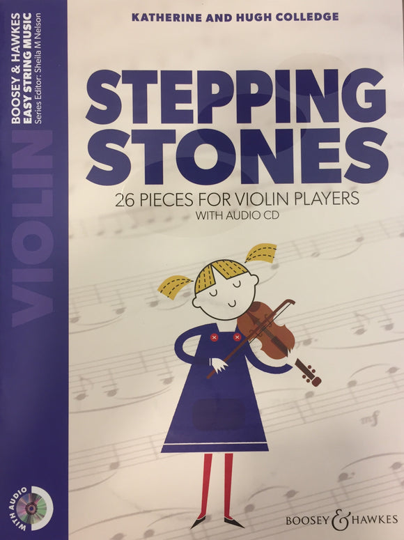 Katherine And Hugh Colledge: Stepping Stones (Violin Book/CD)