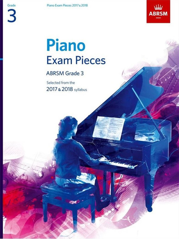 ABRSM: Piano Exam Pieces 2017-2018  Grade 3 (Book Only)