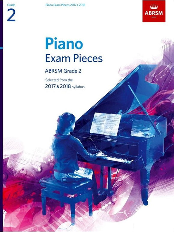ABRSM: Piano Exam Pieces 2017-2018  Grade 2 (Book Only)