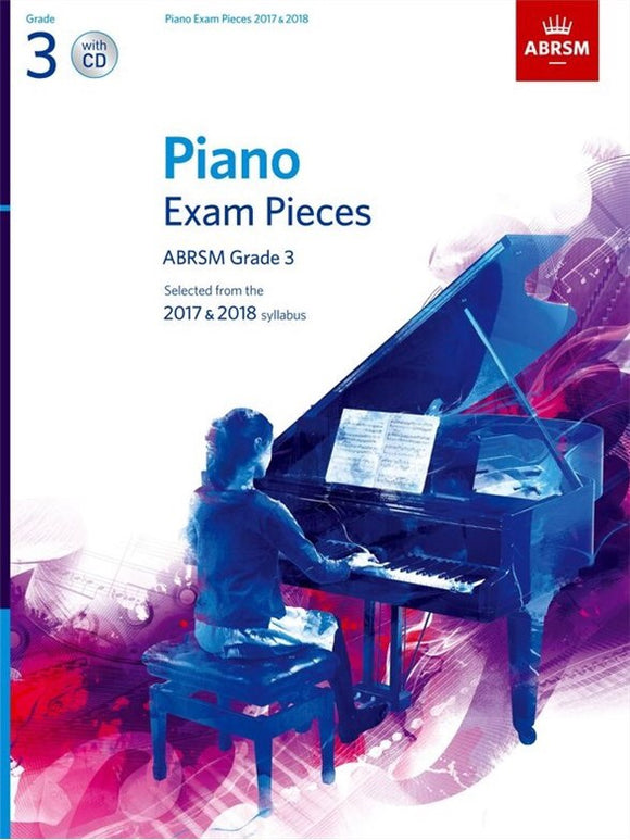 ABRSM: Piano Exam Pieces 2017-2018  Grade 3 (Book/CD)