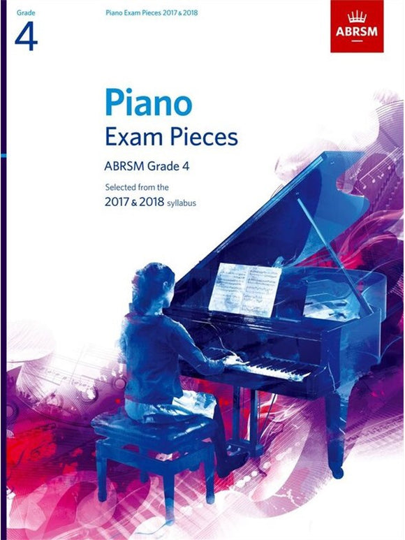 ABRSM: Piano Exam Pieces 2017-2018  Grade 4 (Book Only)