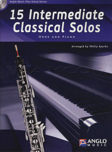 15 Intermediate Classical Solos  Oboe (Book/CD)