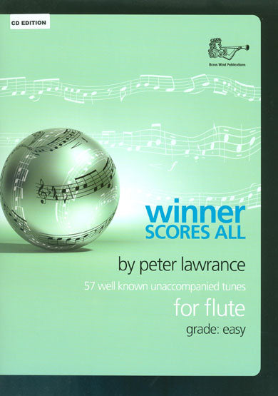 Winner Scores All For Flute (Book/CD)