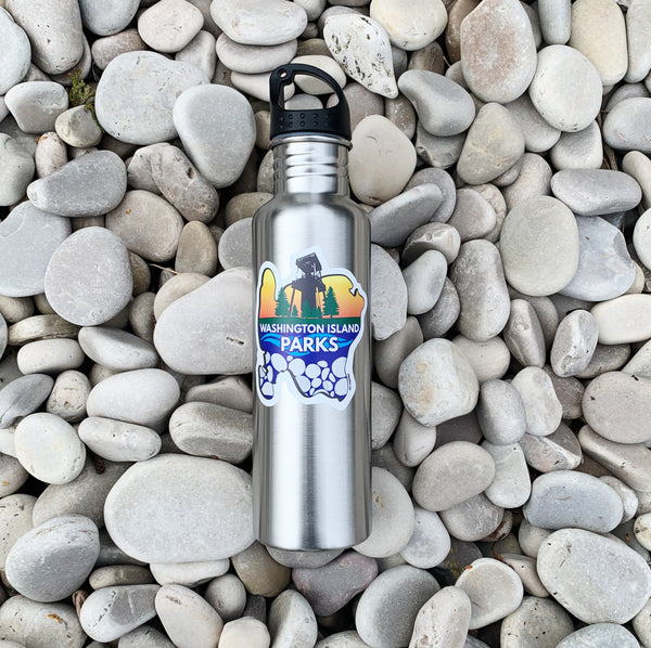Washington Island Parks Stainless Steel Water Bottle