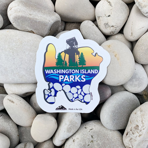 Washington Island Parks Sticker