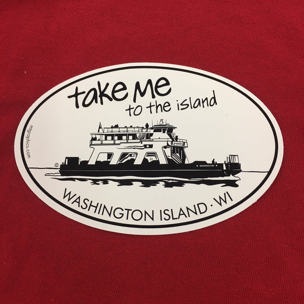 Take Me To The Island Oval Decal/Sticker