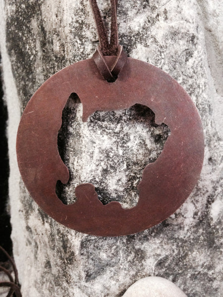 Copper Washington Island Ornament