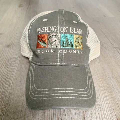 Hike Washington Island Door County Hat