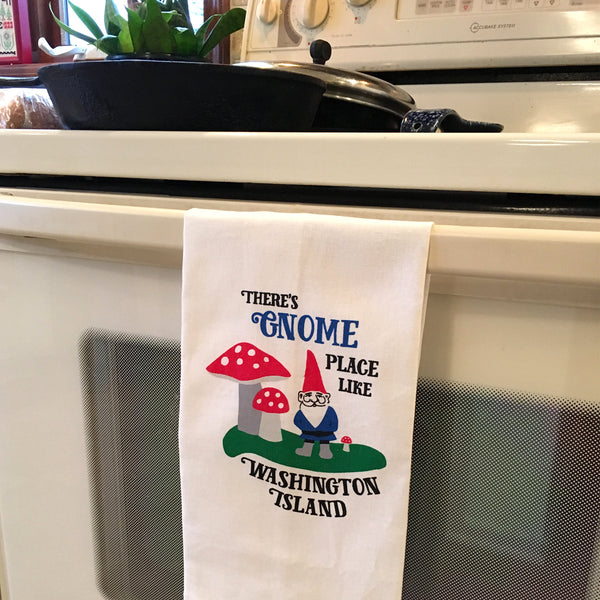 There's Gnome Place Like Washington Island Linen Towel