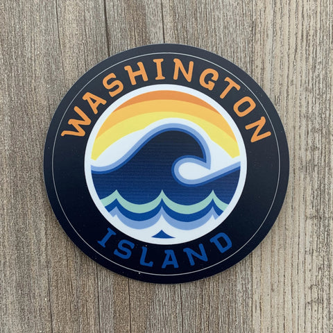 Washington Island Wave Decal Sticker