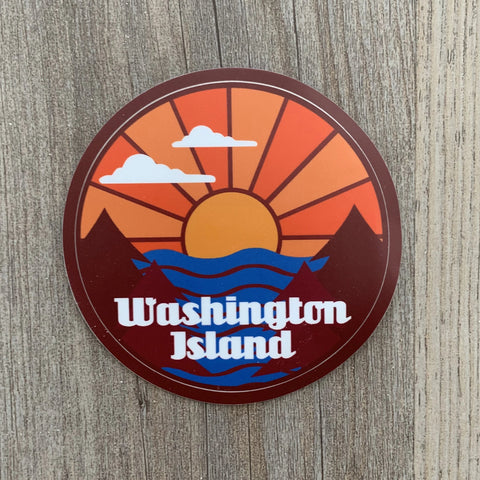 Washington Island Sunset Decal Sticker