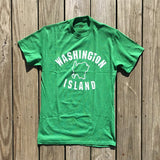Washington Island Outline Heather T-Shirt
