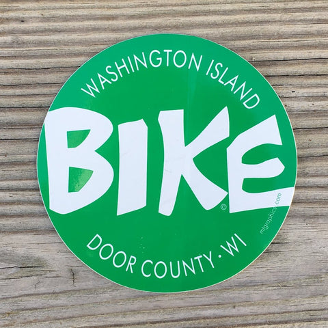 BIKE Washington Island Sticker Decal
