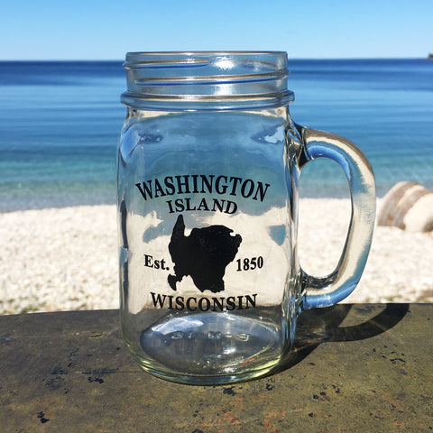 Washington Island Mason Jar Mug