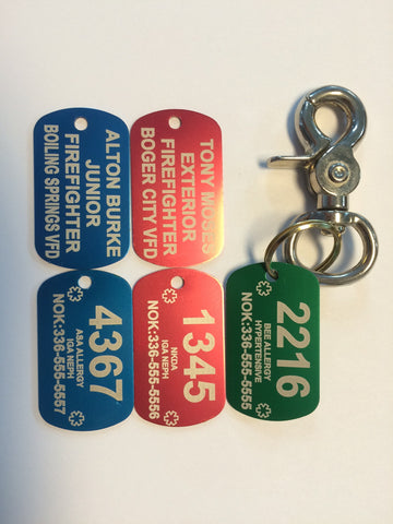 Accountability Tag Set with Hardware