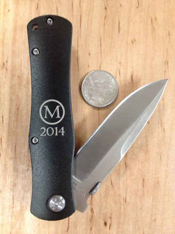 Black Anodized Handle Easy-Open Pocket Knife
