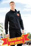 Cornerstone Firefighter's<br>Half-Zip Job Shirt<br>CS626