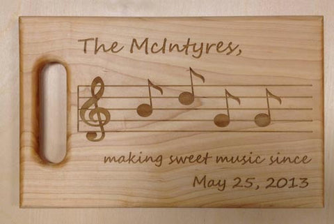 Custom Personalized Engraved Cutting Board - Hard Maple