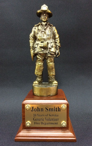 "Firefighter Statue <br /> 11"" Tall Figure"