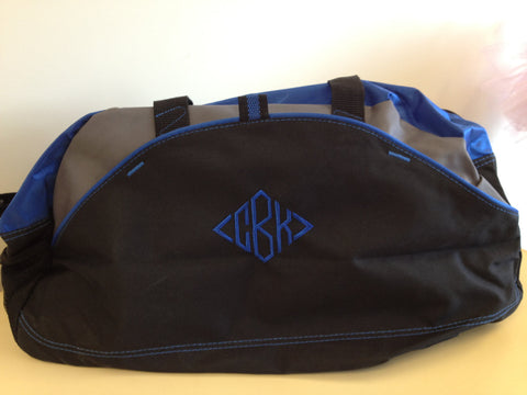 Personalized Monogrammed Duffel Bag<br />5 Colors Available