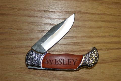 Rosewood Handle Pocket Knife
