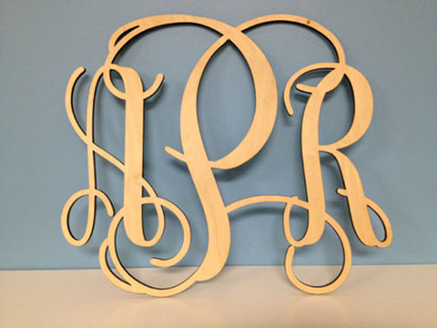 Wooden Monogram (Unfinished) <br /> 4 size options