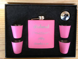 Black Anodized Stainless Steel Flask Set <br />2 Colors Available