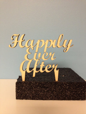 Happily Ever After Cake Topper - Unfinished