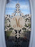 "18"" Snowflake Monogram / Initial - unfinished"