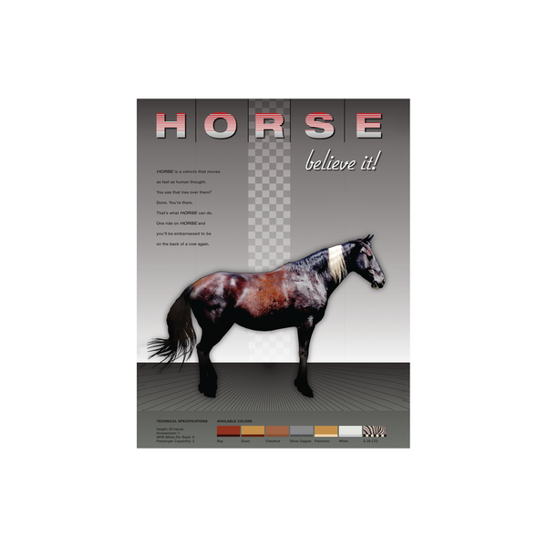 Horse - Believe it! Art Print