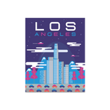 Los Angeles Retro Future Art Print