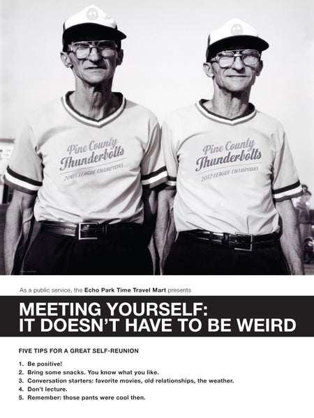 Meeting Yourself Doesn't Have to be Weird Postcard