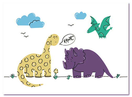 Dinosaur Thank You Card