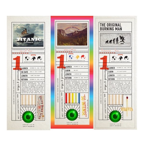 Time Travel Ticket Bookmarks