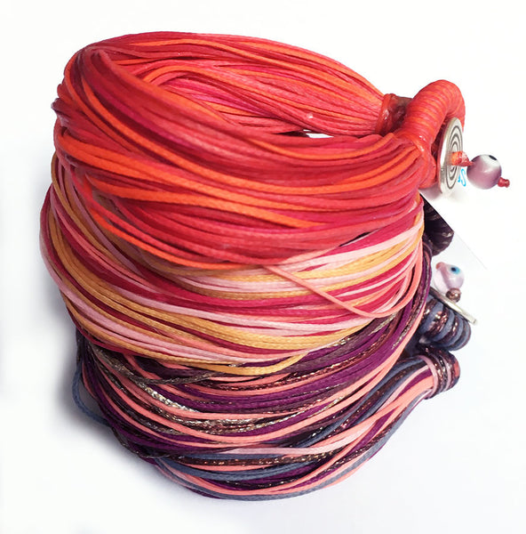 The Surf multi cord bracelet - with a clasp