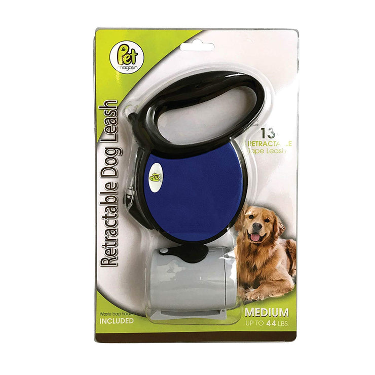 Tangle-Free Retractable Dog Leash with Reflective Belt & Poop Bag Holder
