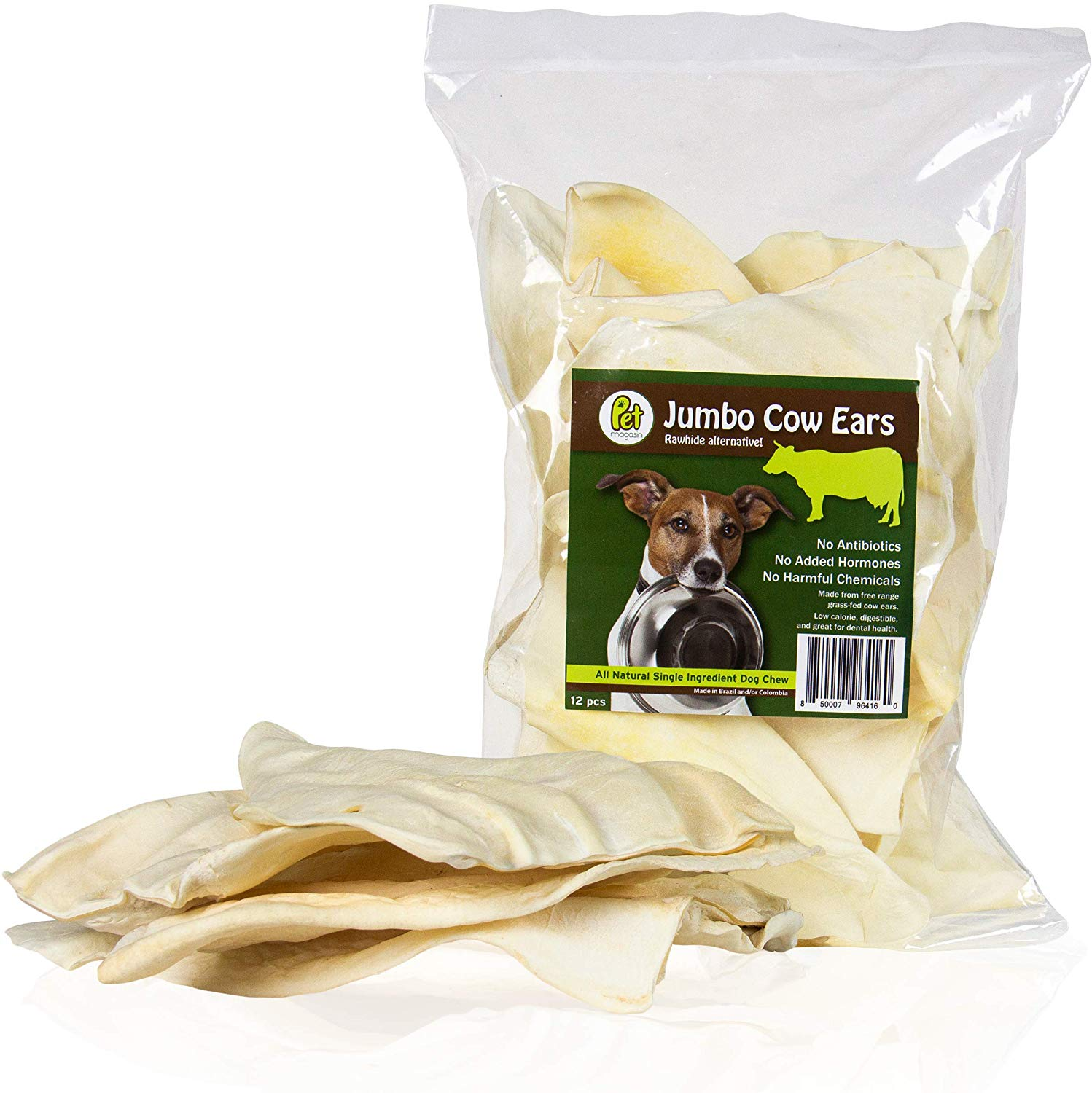 Express Pet Supplies Naturally Air Dried White Puffed Beef Bull Cow Ears 100/% Natural Organic Treats for Dogs Low Fat Grease Odour 5