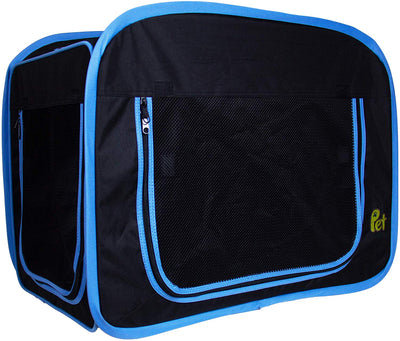 Foldable Cat Travelling Crate - Soft Sided, Waterproof & Durable with Multiple Mesh Windows & Doors for Cat, Dog & Other Animals