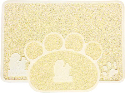 Washable Litter Mat with Litter Trapping - Set of 2