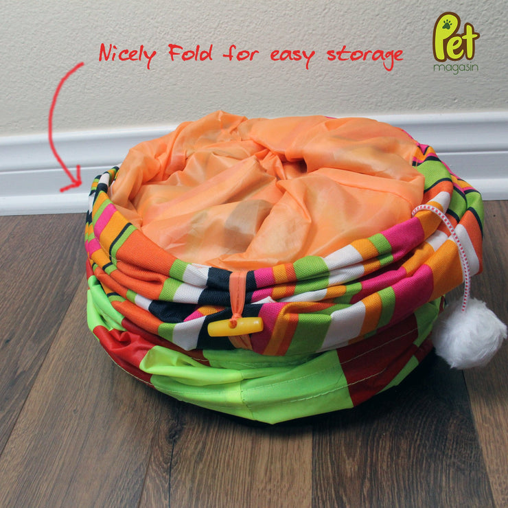 Collapsible Cat Tunnel Toys (2-Pack)-Pet Magasin