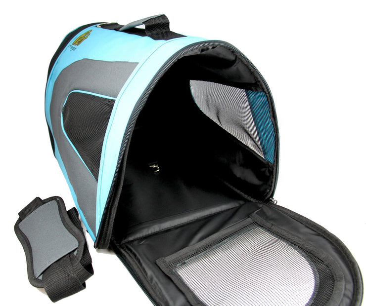 Soft Sided Pet Travel Carrier For Dogs, Cats & Birds - 18'' x 11'' x 10'' - Blue Color-Pet Magasin