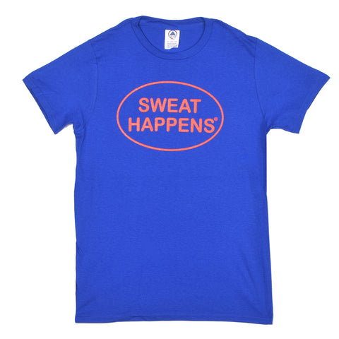Happegear® Royal Blue Sweat Happens® T-Shirt