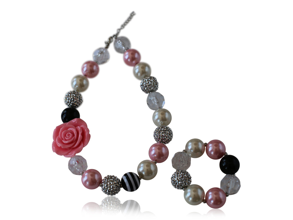 Necklace & Bracelet Set (6 options available) - Desert Roses - 1