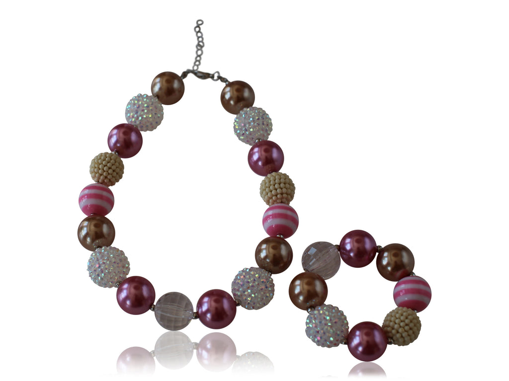 Necklace & Bracelet Set (6 options available) - Desert Roses - 2