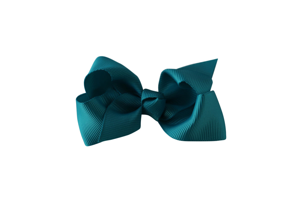Small Boutique Twisted Knot Bow - Desert Roses - 12
