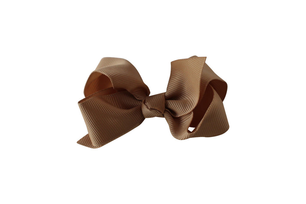 Small Boutique Twisted Knot Bow - Desert Roses - 11