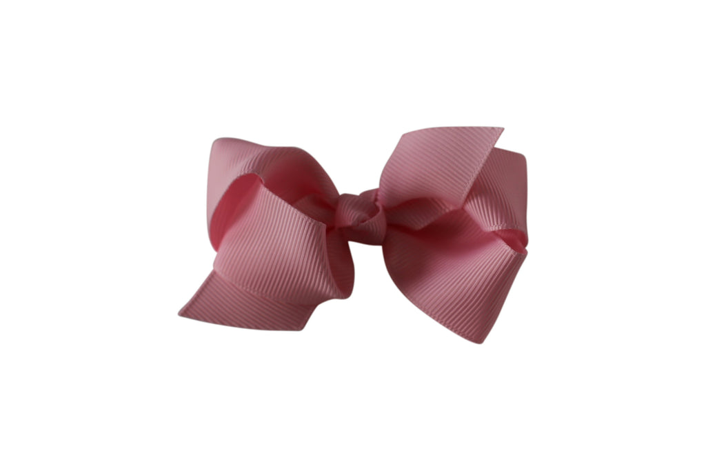 Small Boutique Twisted Knot Bow - Desert Roses - 4