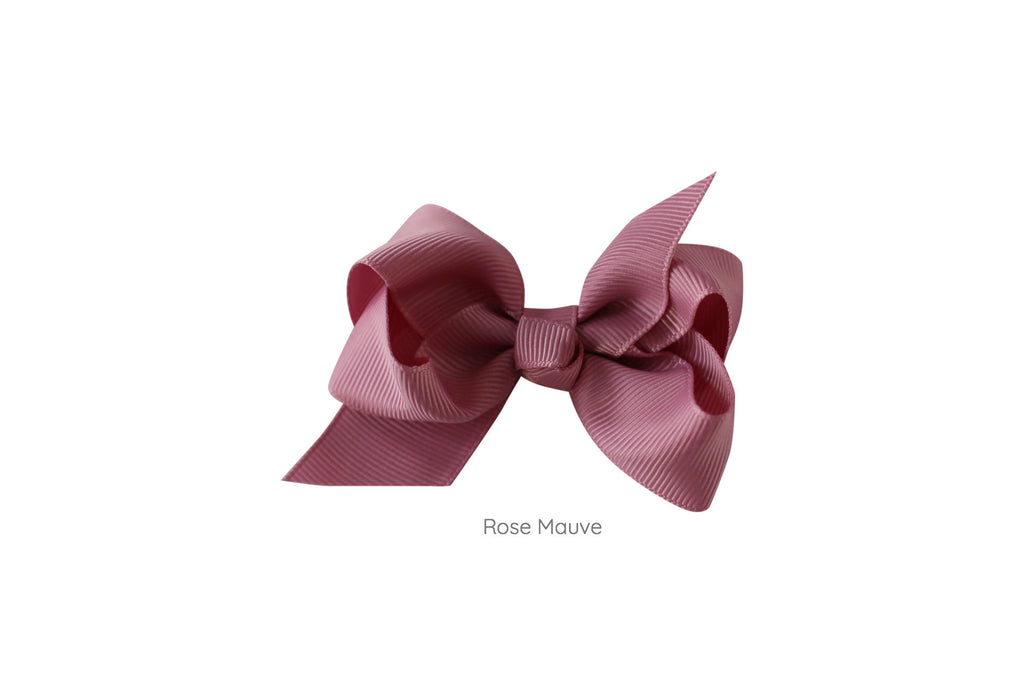 Small Boutique Twisted Knot Bow - Desert Roses - 7